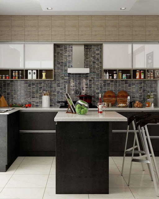 contemporary small kitchen designs with islands