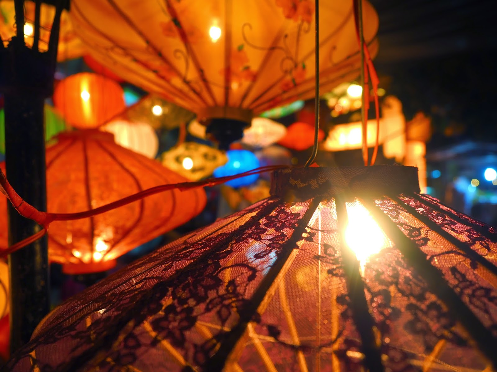 Hoi An Vietnam UNESCO World Heritage lanterns street market travel holiday vacation trip
