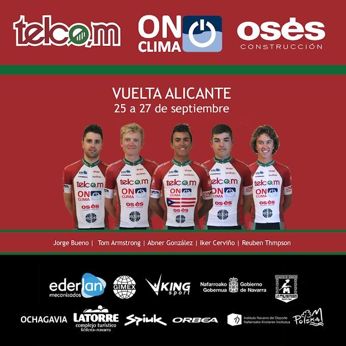 La Vuelta a Alicante y Lazkao, los próximos objetivos del Telco,m On Clima Osés
