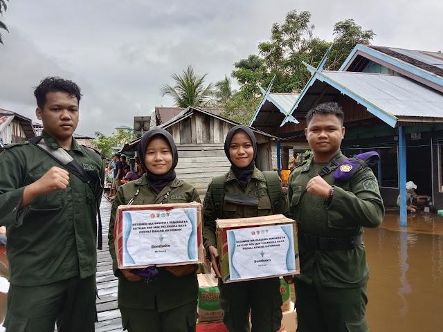 Mahasiswa Prodi PAI Distribusikan Bantuan Bagi Korban Banjir Kabupaten Katingan