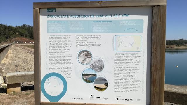 Painel Informação Barragem e Albufeira de Santa Clara