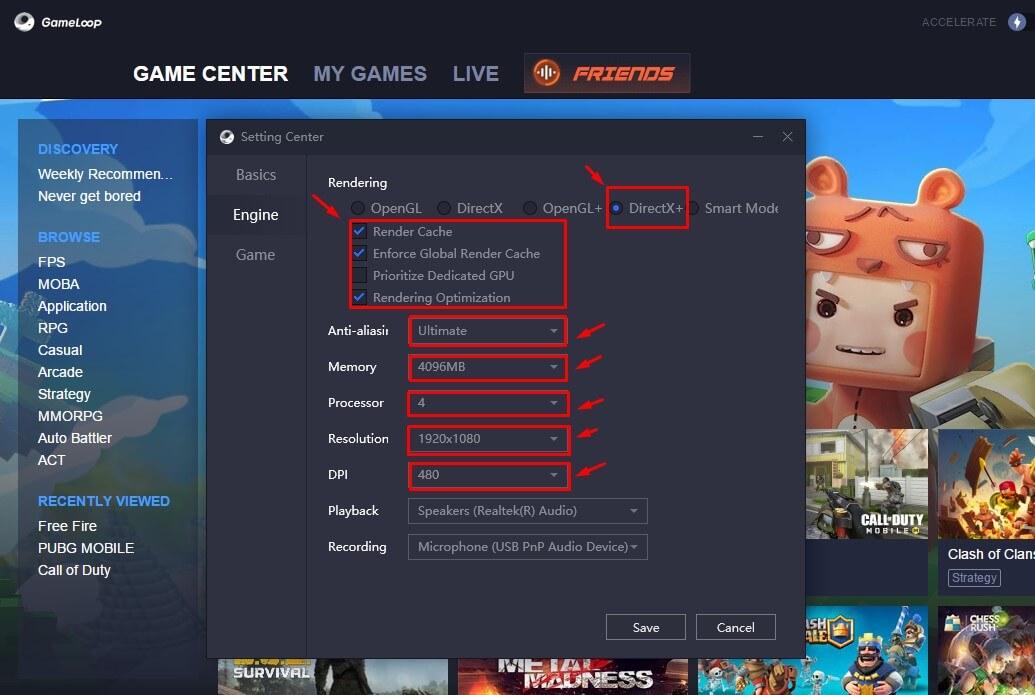 Best Settings Emulator Gameloop 3 0 For Game Free Fire Siswaku Blog