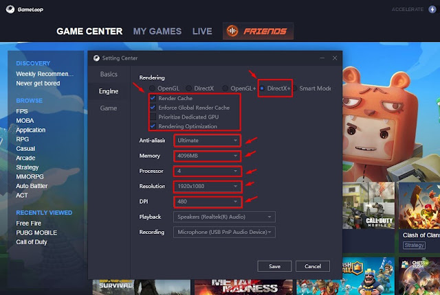 Best Settings Emulator Gameloop 3.0 for Game Free Fire