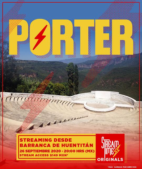 Porter dará un concierto virtual a través de la plataforma de StreamTime