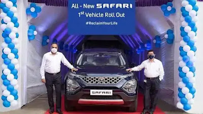 At the start of production, Tata Motors launched its first 2021 SUV Safari