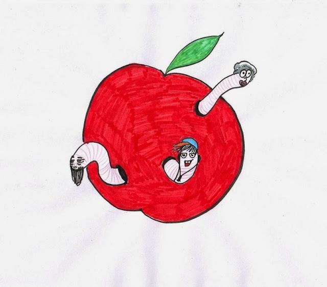 Эвелина Васильева. Червяки едят яблоко