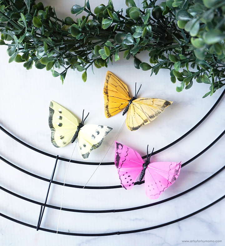 Bicycle & Butterfly Wreath Supplies