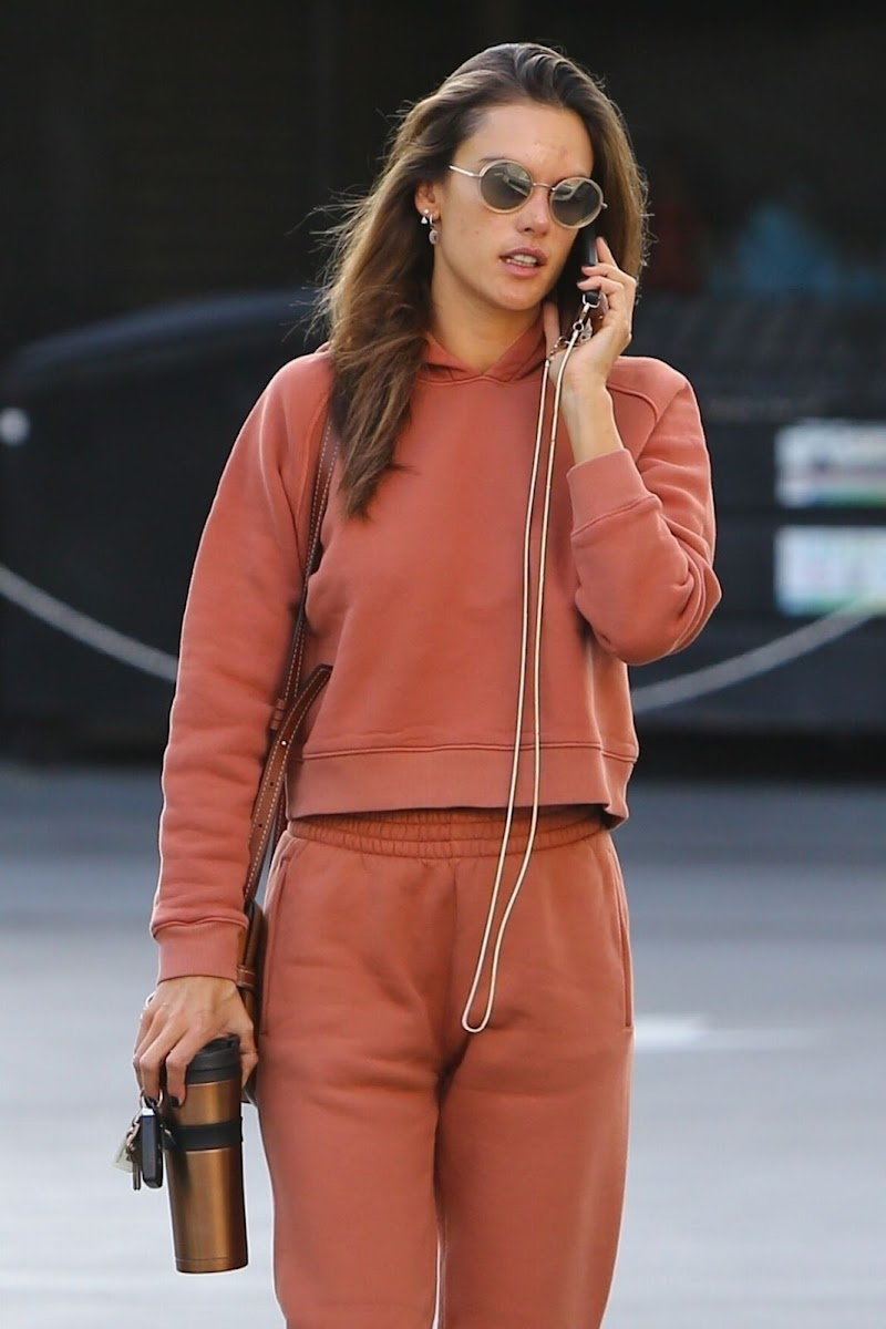 Alessandra Ambrosio Clicked Outside in Brentwood 28 Jan-2020