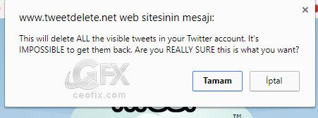 Tweet delete'den bir mesaj