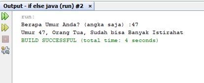 Contoh Program Sederhana IF ELSE IF Pada Java Netbeans Lengkap Dengan Penjelasannya