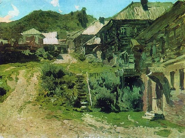 Исаак Ильич Левитан - Уголок в Плёсе. 1888