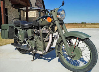 Royal Enfield Military model motorcycle.
