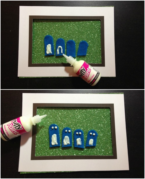 Glow in the Dark Penguin Family Portrait - a Dollar Store Craft
