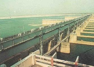 Farakka Barrage across the Ganges River