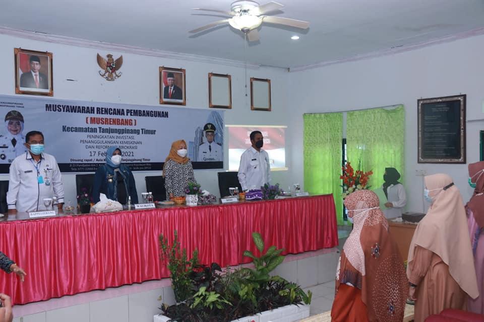Walikota Tanjungpinang Membuka Musrenbang Tingkat Kecamatan