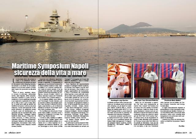 OTTOBRE 2019 PAG. 24 - Maritime Symposium Napoli sicurezza della vita a mare