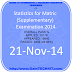 Statistics for Matric (Supplementary) Examination 2014