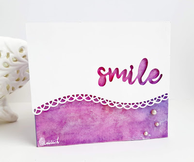 nspired by Loll, Technique card, water colouring, die cut, Perfect pearls, CAS card, Quillish, Smile, Everyday cards, cards by Ishani, cards online, handmade cards online, simple handmade cards, hobby cardmaking