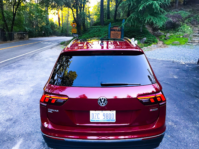 Rear view of 2020 Volkswagen Tiguan 2.0T SEL with 4MOTION