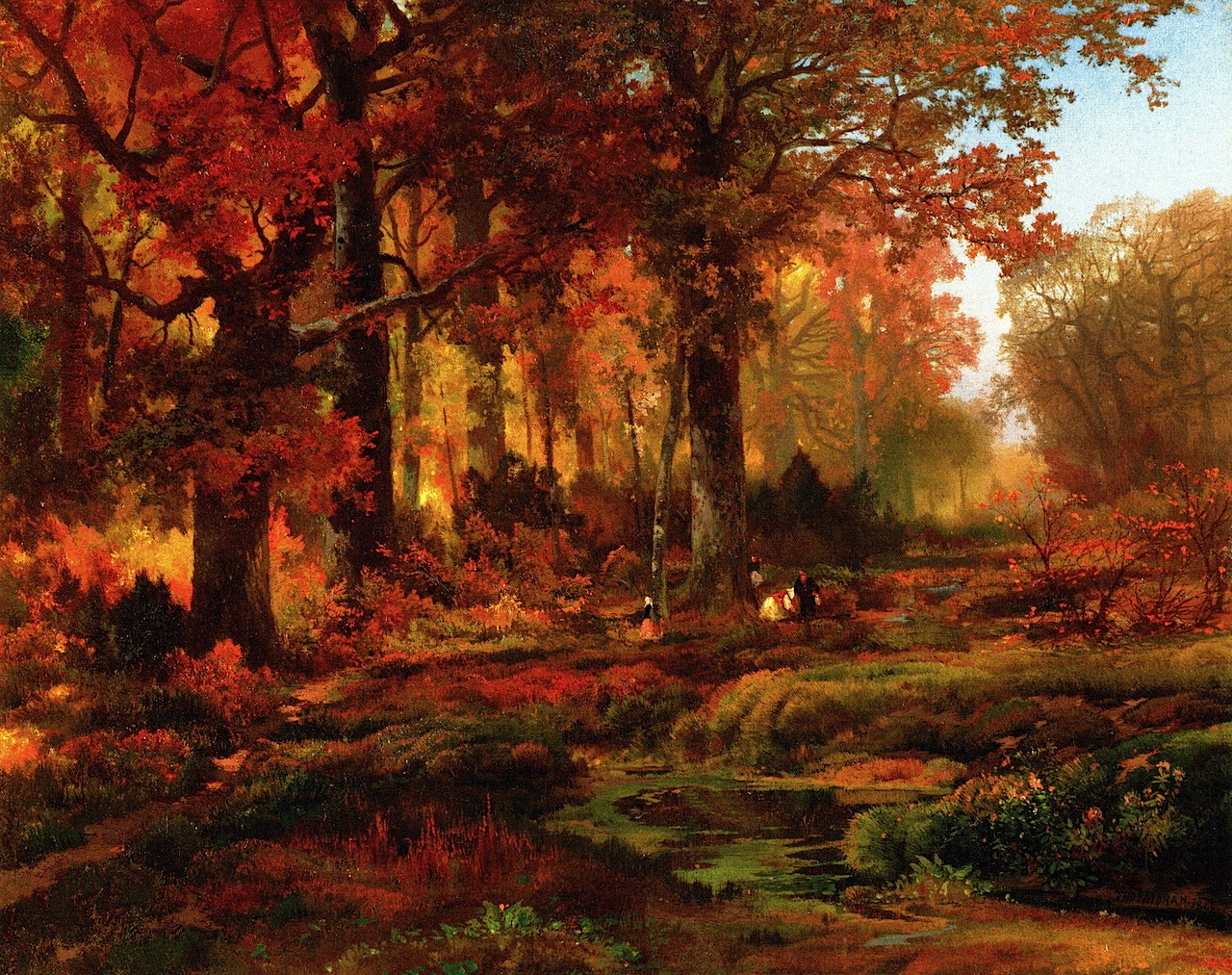 Schilderij Herfst Fall Autumn Paintings From The 1800s Fall Paintings Of