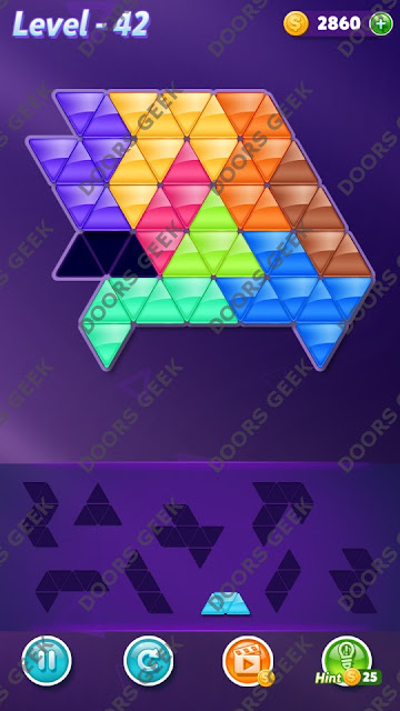 Block! Triangle Puzzle Proficient Level 42 Solution, Cheats, Walkthrough for Android, iPhone, iPad and iPod