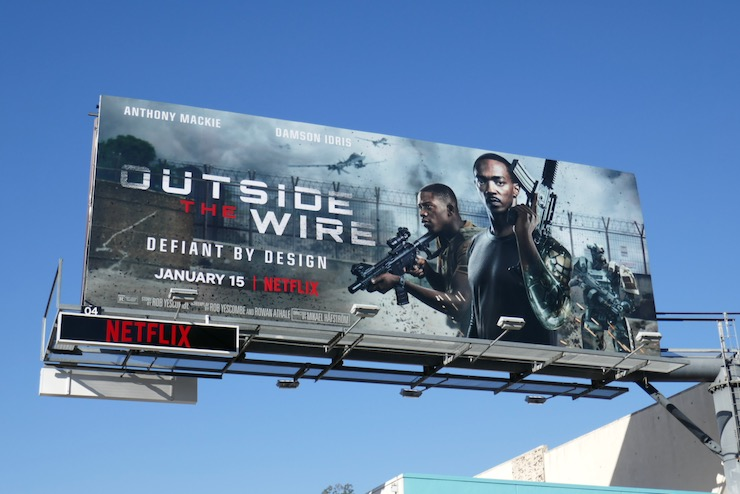 Outside the Wire movie billboard