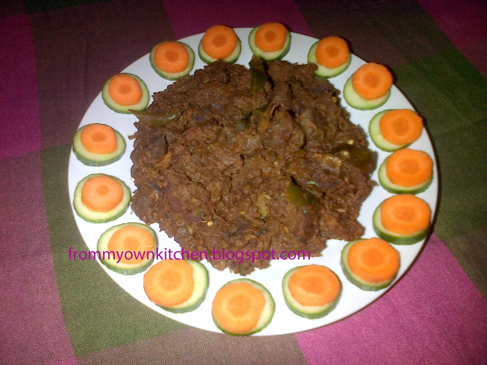 From My Own Kitchen: Beef Varattiyathu/Beef Roast