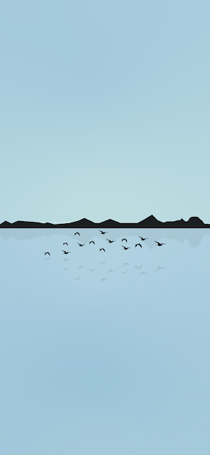 minimalist-wallpaper-for-mobile-phone-birds-flying-above-water-lake