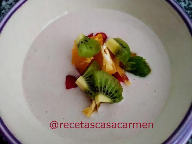 Ajoblanco de frutas