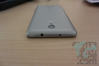Xiaomi Redmi Note 3 - sisi atas, noise cancellation mic, port audio 3.5 mm dan IR-blaster