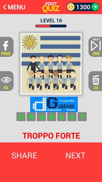 FootQuiz Calcio Quiz Football ( TEAM) soluzione livello 11-20