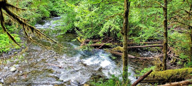 Beautiful clear river from Barnes creek and Falls creek