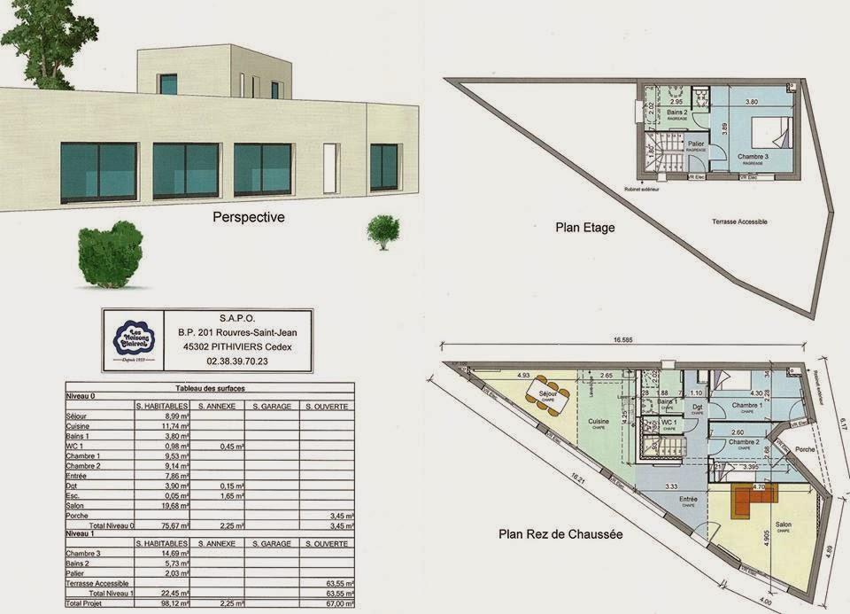 Implantation maison sur terrain triangulaire segu maison for Maison en triangle