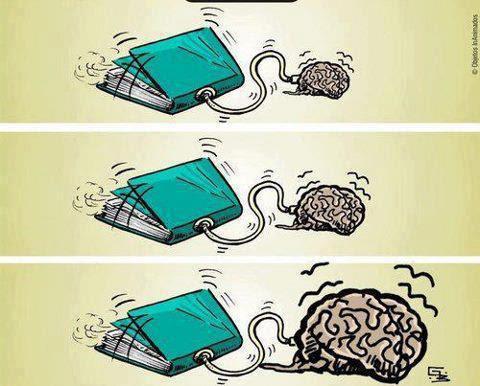 Meme de humor sobre el poder de la lectura