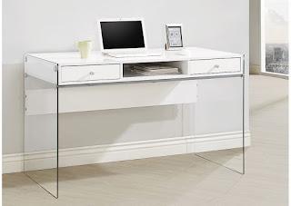 Glossy White Computer Desk