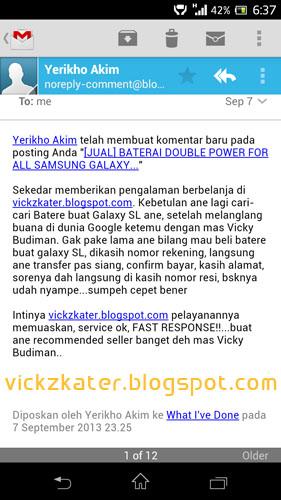 Testimonial vickzkater.blogspot.com di Komentar Blog