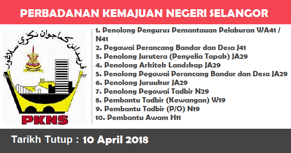 Jawatan Kosong di Perbadanan Kemajuan Negeri Selangor (PKNS)
