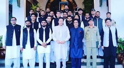 "PMIK Meeting | PM Imran Khan declared the National cricket team ""Corner Tigers"""