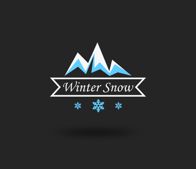 Winter Snow Season Logo