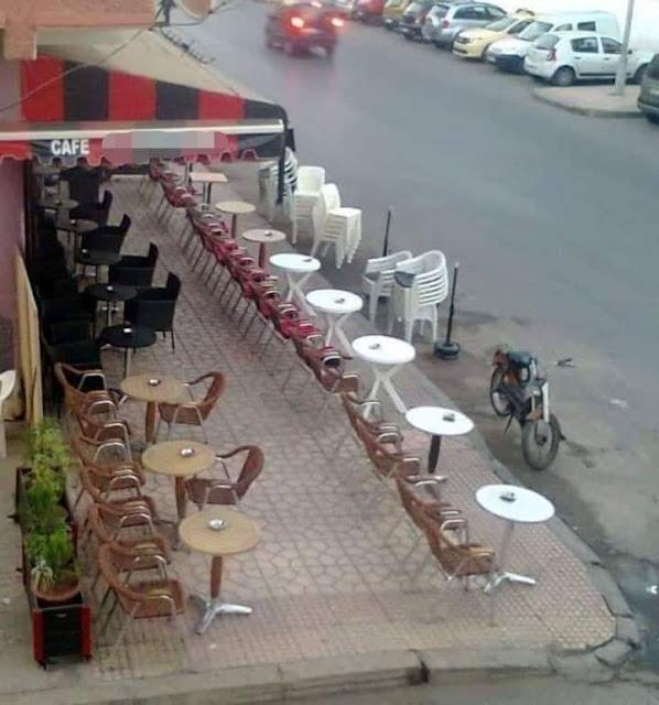 سلا...احتلال مقهى معروف للملك العمومي يثير غضب السكان في منطقة تابريكت بسلا.