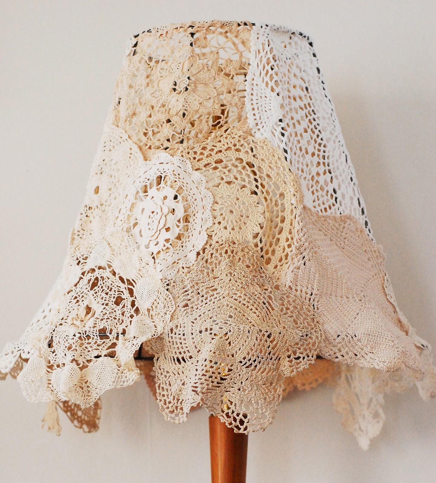 Vintage Lamp Shades: Maize Hutton: Vintage Doily Lampshade DIY