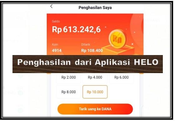 Pengalaman Dapat Uang 600 Ribu Dari Aplikasi Helo Hanya 7 Hari