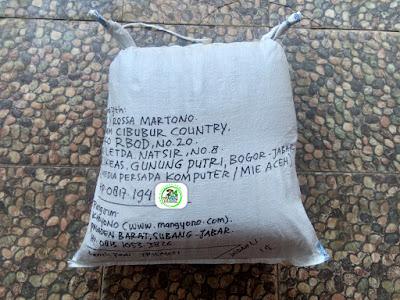 Benih padi yang dibeli   BILLY RM Bogor, Jabar.  (Setelah packing karung).
