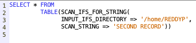 Scan IFS directory for a string