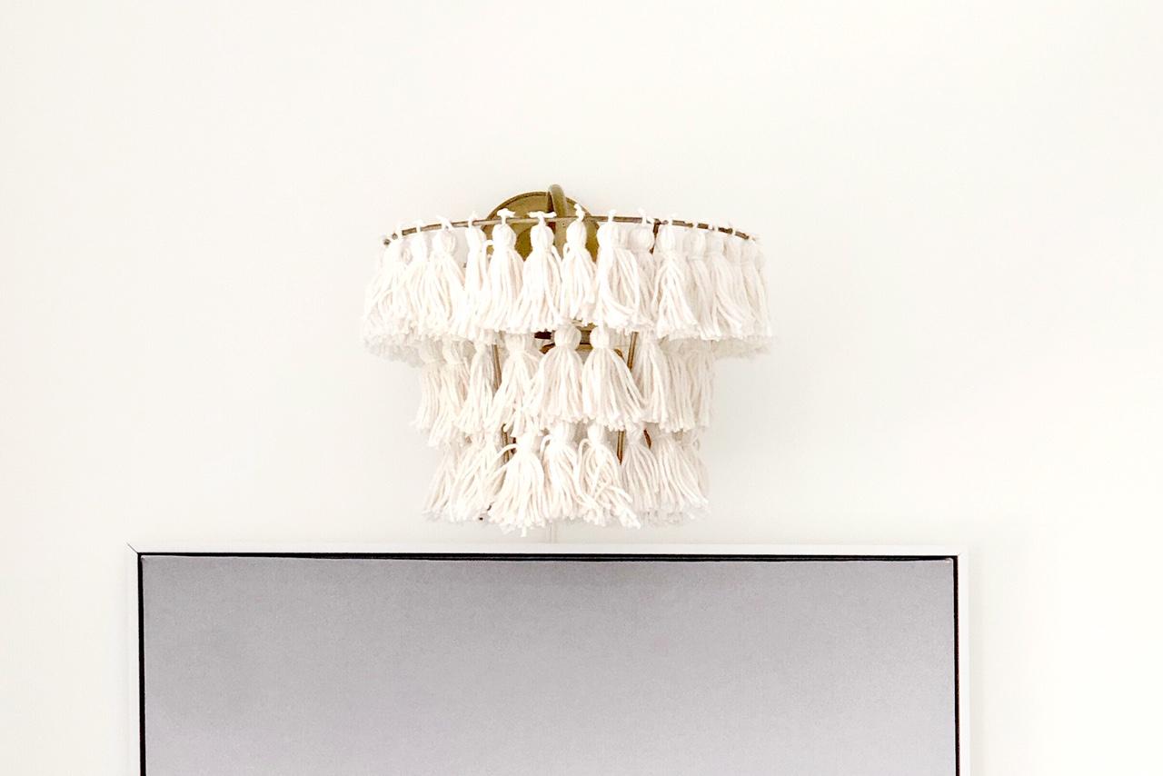 DIY Tassel Lampshade