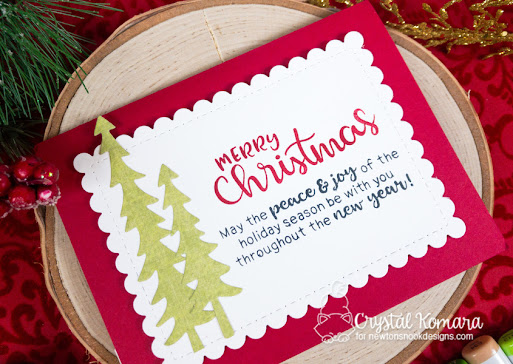 Merry Christmas by Crystal features Main Street, Destination Christmas, Forest Scene Builder, and Sentiments of the Season by Newton's Nook Designs; #newtonsnook, #cardmaking, #christmas