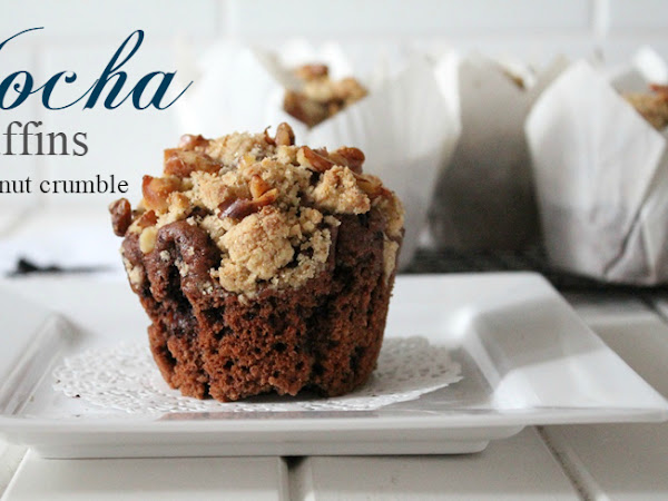 Mocha Muffins with Walnut Crumble