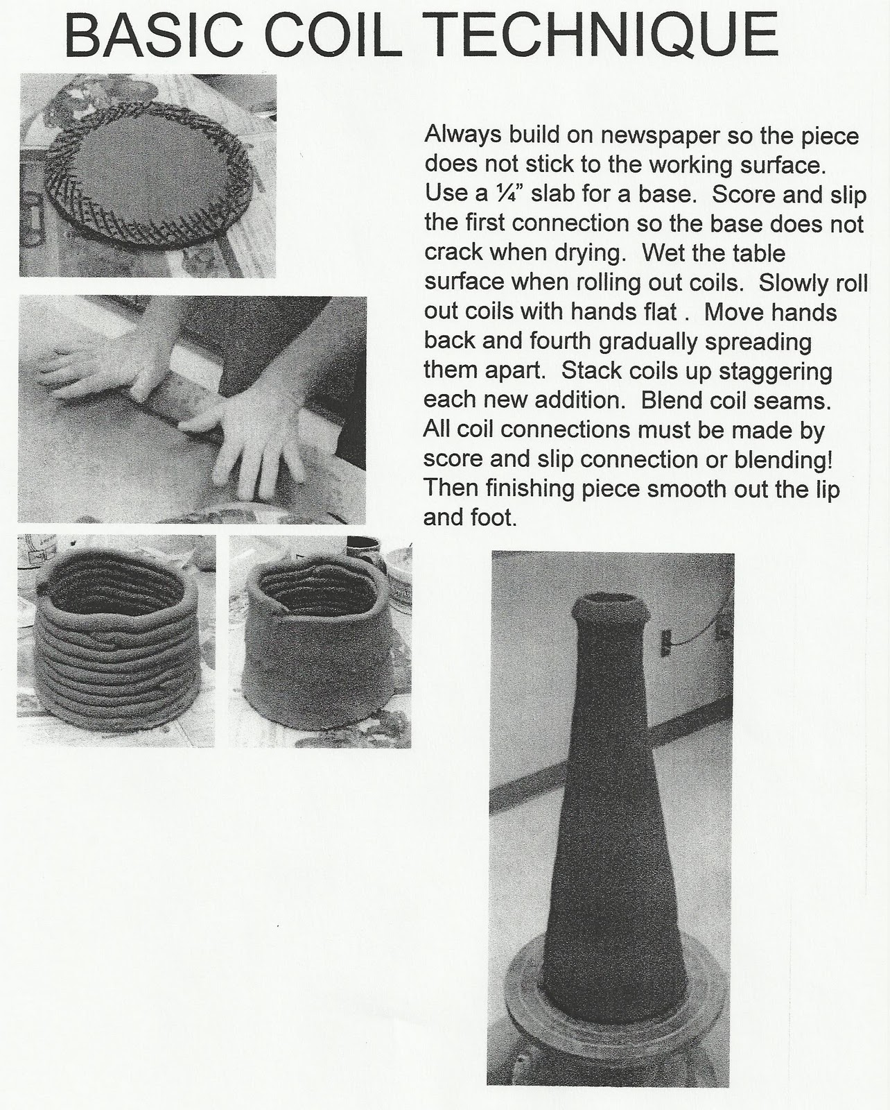 Jake Allee Ceramic Projects Hand Building Technique