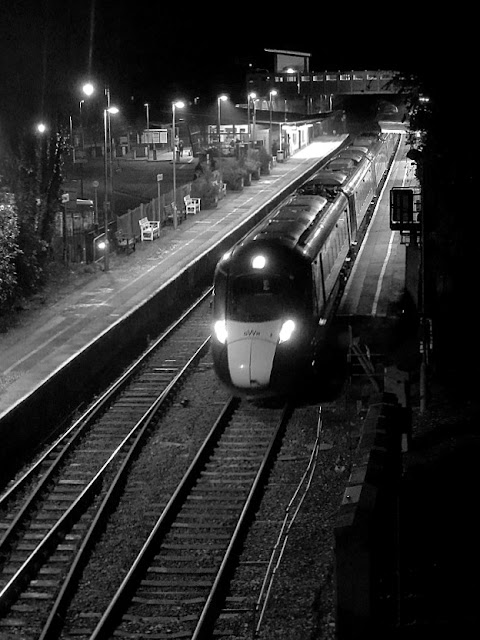 Night time at St. Austell Station, Cornwall