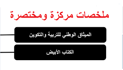 ملخصات مختصرة للكتاب الابيض والميثاق الوطني للتربية والتكوين